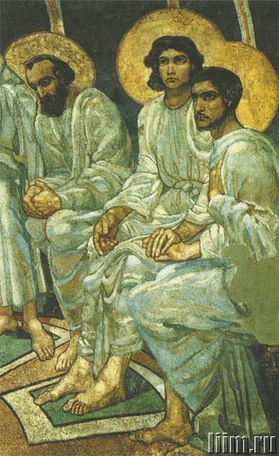 Врубель Михаил Александрович. Сошествие Святого Духа на апостолов. 1885. Фрагмент фрески
