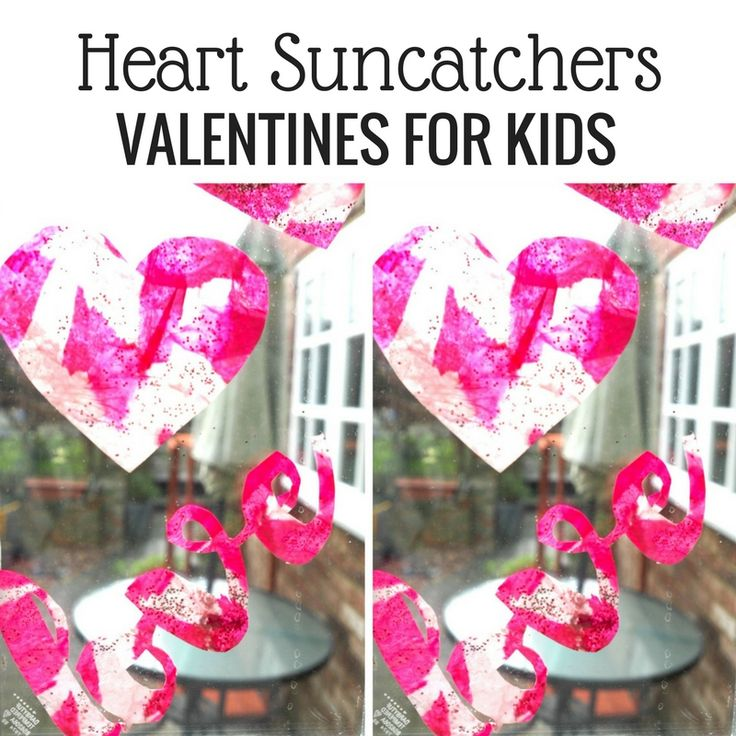 Click here for a FREE printable to make heart suncatchers and celebrate Valentines with kids with this process art activity tutorial - we hope that you like