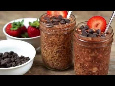 Healthy Breakfast Ideas | Chocolate Overnight Oats
