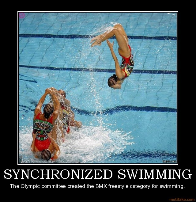 demotivational poster SYNCHRONIZED SWIMMING