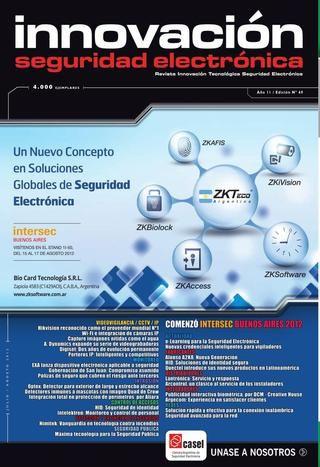 Revista Innovacion SEG 69  Seguridad Electronica. Revista innovación. Trigono SRL.