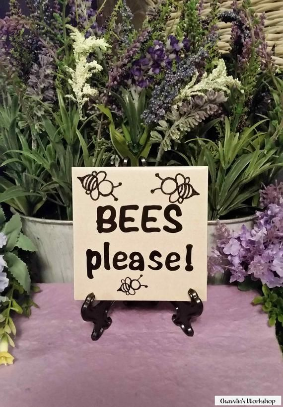 Bees Please Bee Garden Sign Mother S Day Gift Father S Day