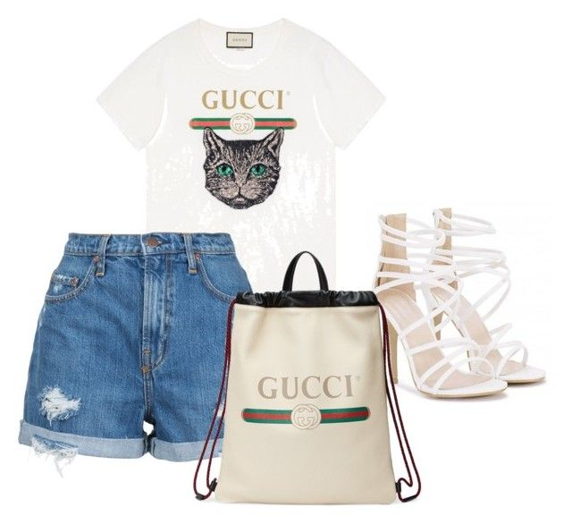 """Untitled #156"" by isagarcia18 on Polyvore featuring Gucci and Nobody Denim"