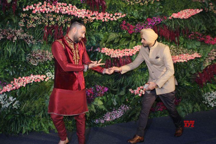 Mumbai: Virat Kohli  Anushka Sharma's wedding reception  Yuvraj Singh and Harbhajan Singh - Social News XYZ