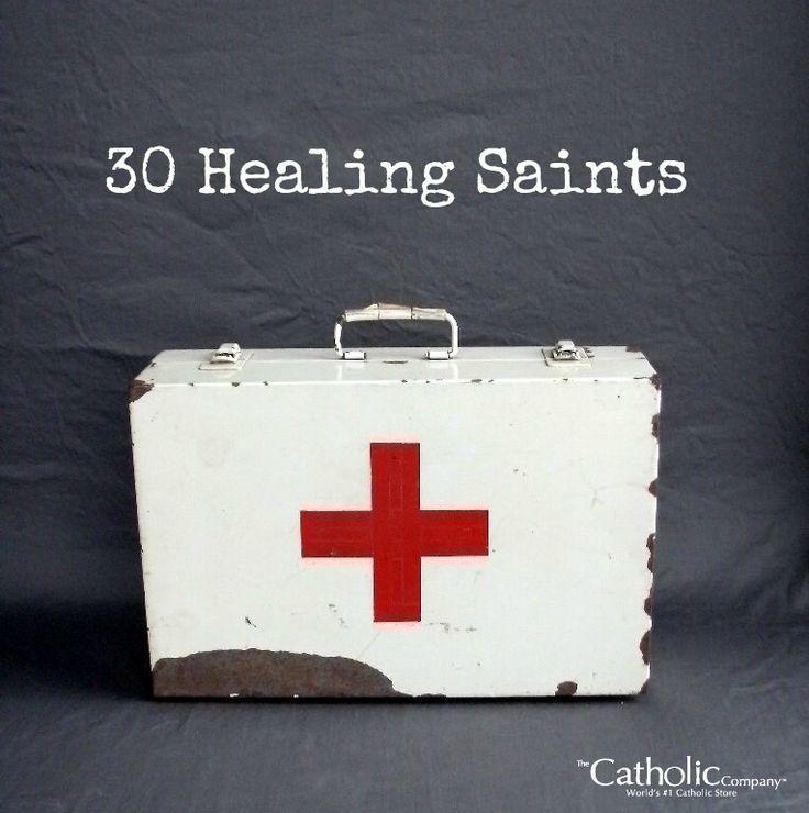 Catholic Company blog post: 30 Healing Saints to invoke for common health concerns.