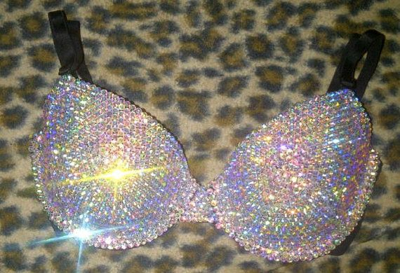 Swarovski AB Cystal  T-shirt Bra Any Size A-G Cups. Definitely selling my soul for this
