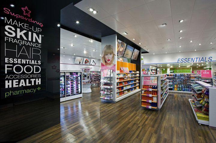 Pharmacy Design   Retail Design   Store Design   Pharmacy Shelving   Pharmacy Furniture   Superdrug store by Dalziel and Pow, London