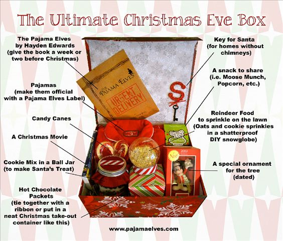 The Ultimate Christmas Eve Box (The Pajama Elves)...update this for a first Christmas together as a couple: