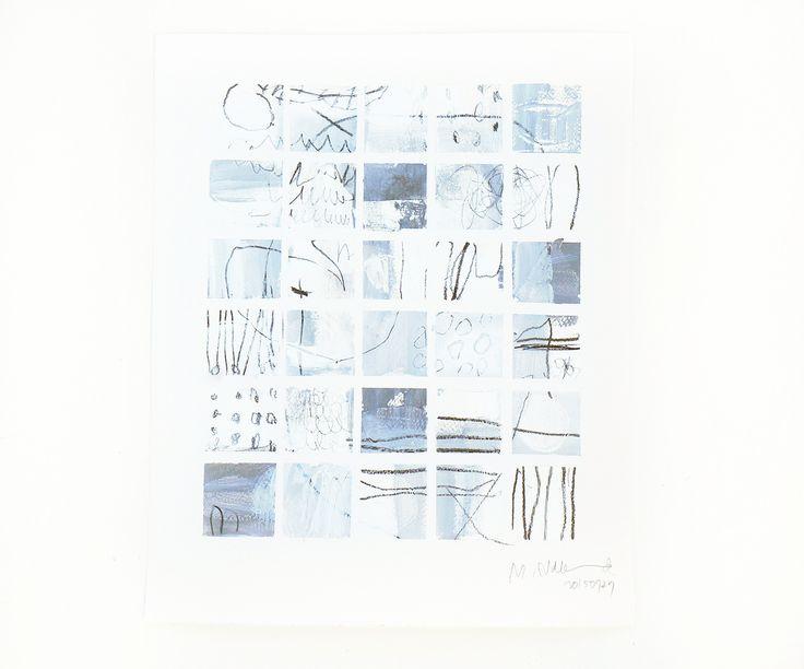 """From """"The Tile work Series"""": Tairu no uta → The Song of Tiles  シリーズ:小石とタイルのかけらたち より たいるのうた   (2015) ファブリアーノ紙 350g に アクリル絵具と鉛筆 350x300mm"""