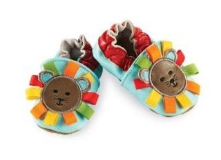 Perfect for his tiny footsies, these genuine leather pre-walker shoes feature a colorful lion's mane with ribbon tab accents $29.99.  Get it now at http://ilovebabyclothes.com/?page_id=595