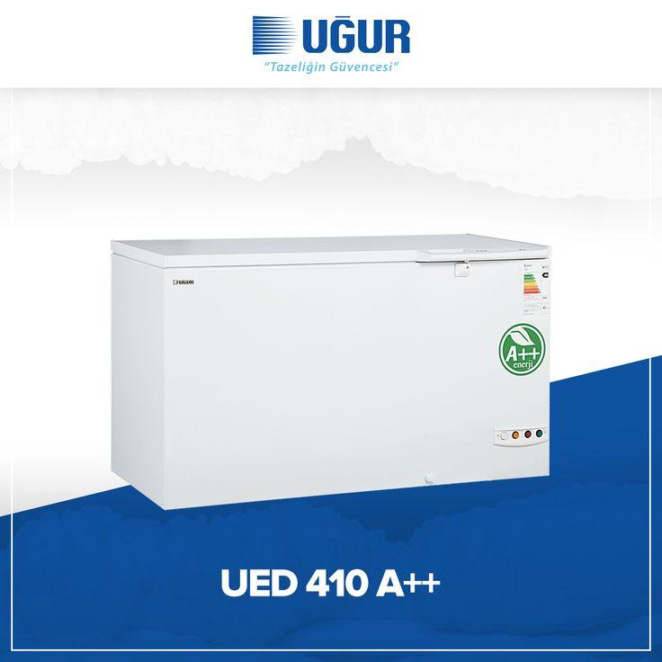 UED 410 A++ birçok özelliğe sahip. Bunlar; sağlam gövde yapısı, marka uygulama ve değiştirme kolaylığı, çok düşük enerji tüketimi, ayarlanabilir termostat, kolay ve esnek konumlandırma için opsiyonel 4 adet tekerlek, dolap içi aydınlatma, tek düğme ile hızlı şoklama. #uğur #uğursoğutma
