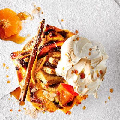 Taste Mag | Citrusy bread-and-butter pudding with Italian meringue @ https://taste.co.za/recipes/citrusy-bread-and-butter-pudding-with-italian-meringue/