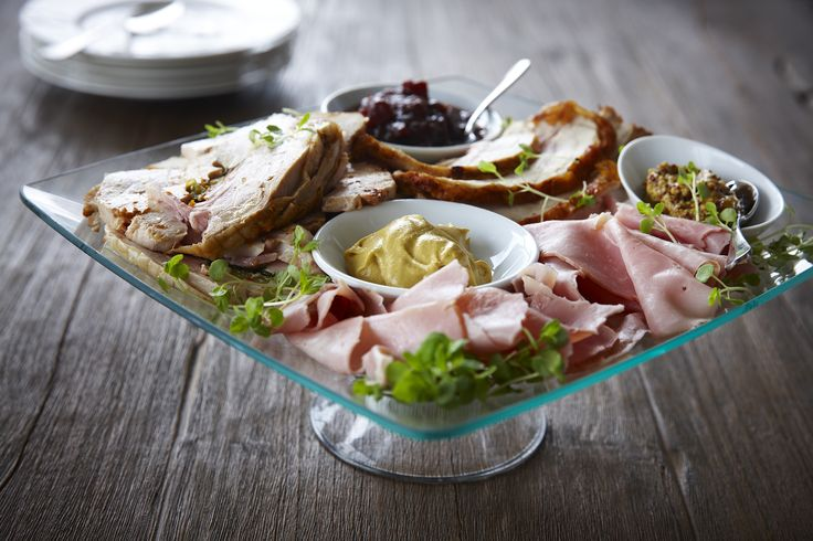 As part of our gorgeous Christmas Menu, this platter of beautiful ham off the bone, citrus aioli, homemade chutney and ballotine of chicken serves 6 people and only costs $50! www.dietlicious.com.au/xmas.php