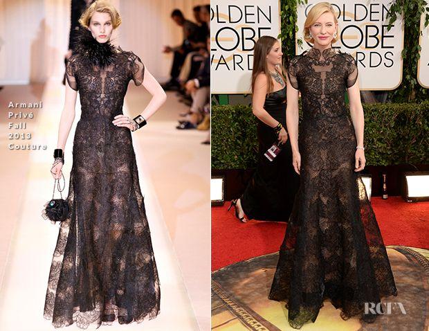 Cate Blanchett In Armani Privé Couture – 2014 Golden Globe Awards