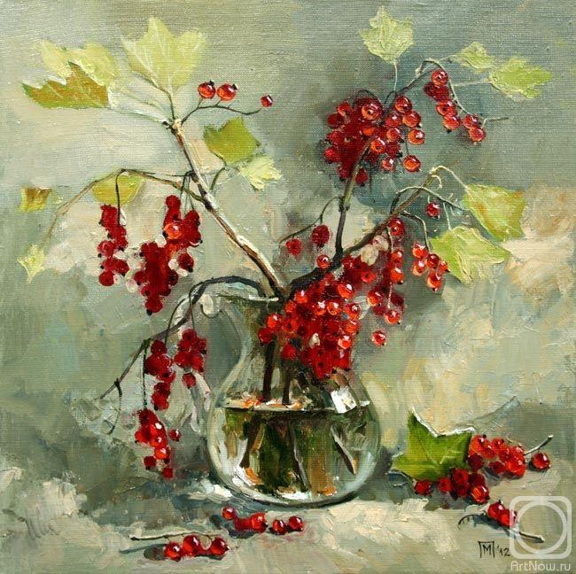 красная смородина. Artist: Maria Pavlova (St. Petersburg, Russia) Художник Мария Павлова.