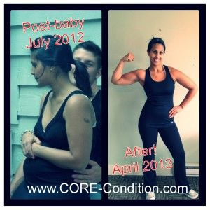 Post baby weight?? no excuses for this girl!! she blasted that baby weight like it was nothing!!! With the right coach anything is possible :)