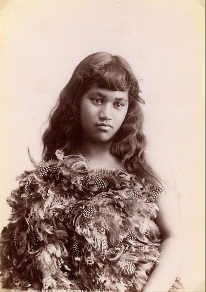 Arthur James Iles -~ Maori woman, Rotorua, New Zealand, 1900-1920.