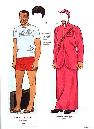 samuel l jackson paper doll by tom tierney from favorite african american movie stars