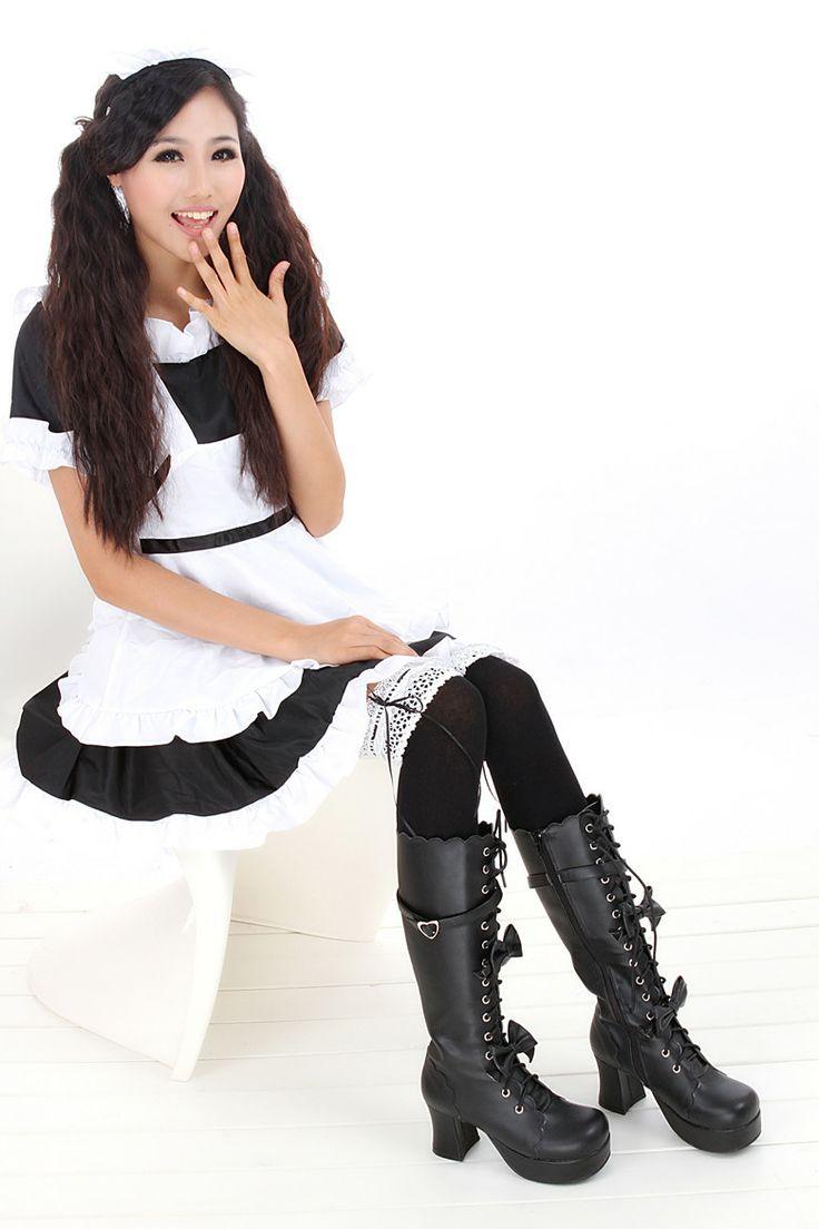 preteen in stockings