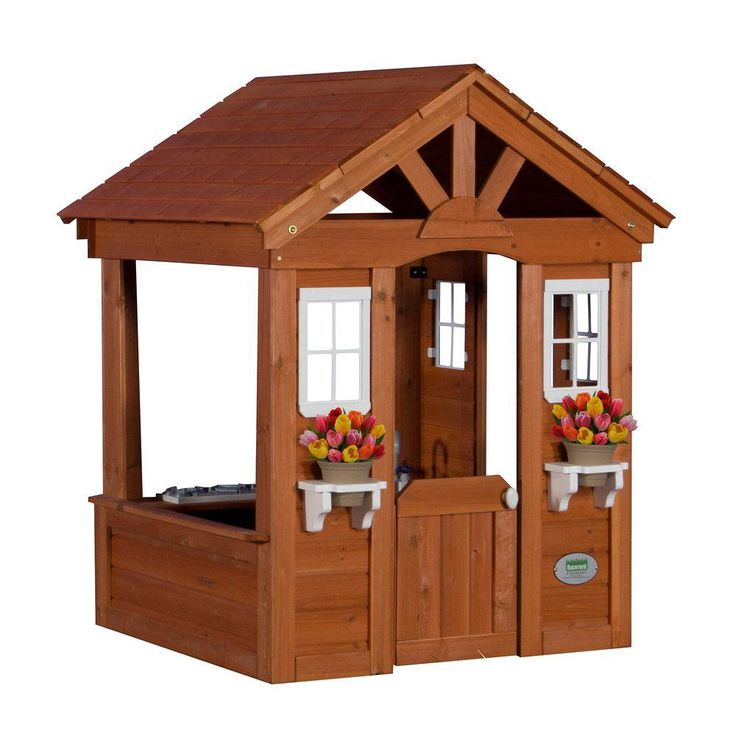 Backyard Discovery Columbus All Cedar Playhouse