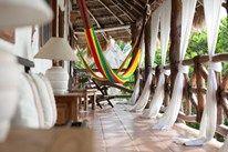 Terrace at CasaSandra on Isla Holbox, Mexico | Winter-sun holidays on Isla Holbox, Mexico