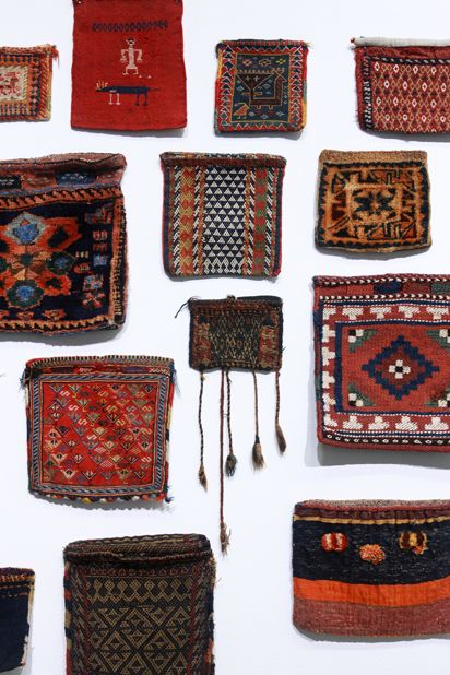 """Chanteh - Tribal textiles from Iran"" - Chantehs are small bags made by nomadic weavers in Iran and elsewhere in the Middle East"