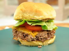 GZ's Ugly Burger Recipe : Geoffrey Zakarian : Food Network - FoodNetwork.com    Maybe I can finally make Chelsea the juicy burger on her bucket list.