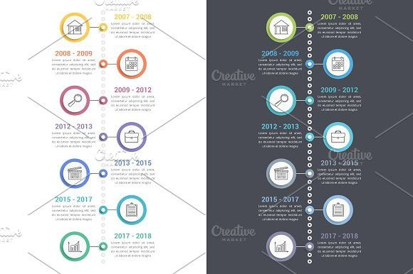 Vertical Timeline Template Infographic Templates Infographic Image Font