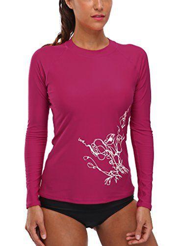 4020a89beb3da Vegatos Women Long Sleeve Rash Guard Shirt UV Rashguard Athletic Swimwear  Top #shirt #swimwear #clothing #longsleeve
