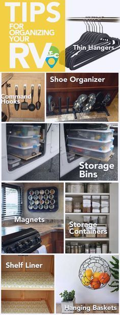 Organize your RV, motorhome, or travel trailer with these space-saving tips from RV Repair Direct!