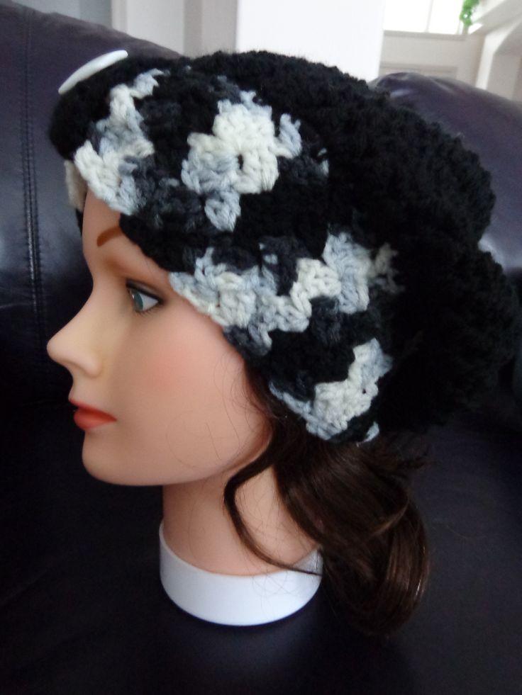 Crochet slouchy hat; Crochet Gifts Design