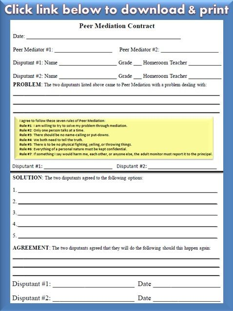 120 best Exquisite School Counselor images on Pinterest - mediation agreement template