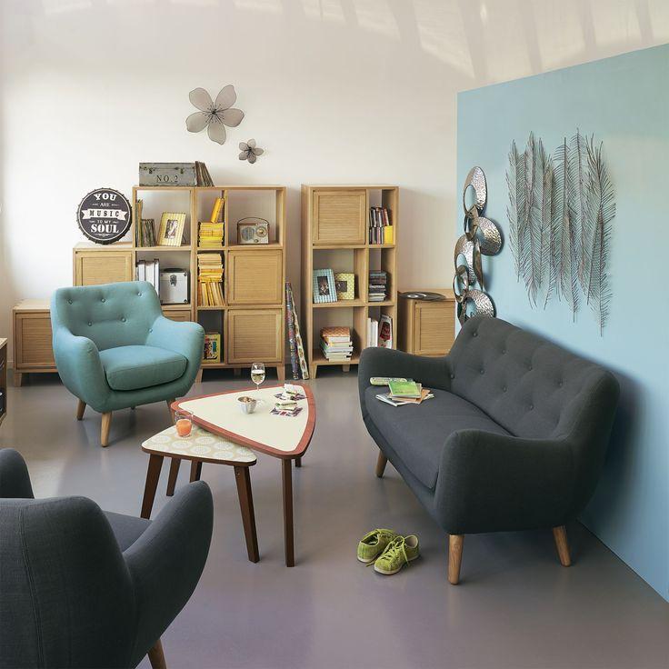 Les 55 meilleures images propos de deco petite maison for Meuble salon alinea