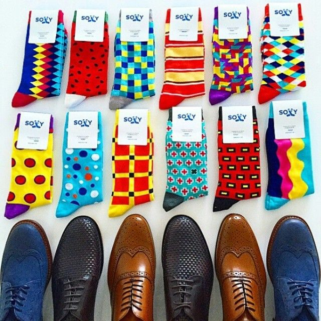Killer men's socks from Soxy. Great dress shoes too!!!