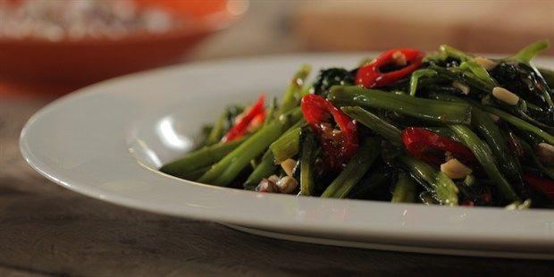 Stir-fried 'Pak Boong' (Kangkong)