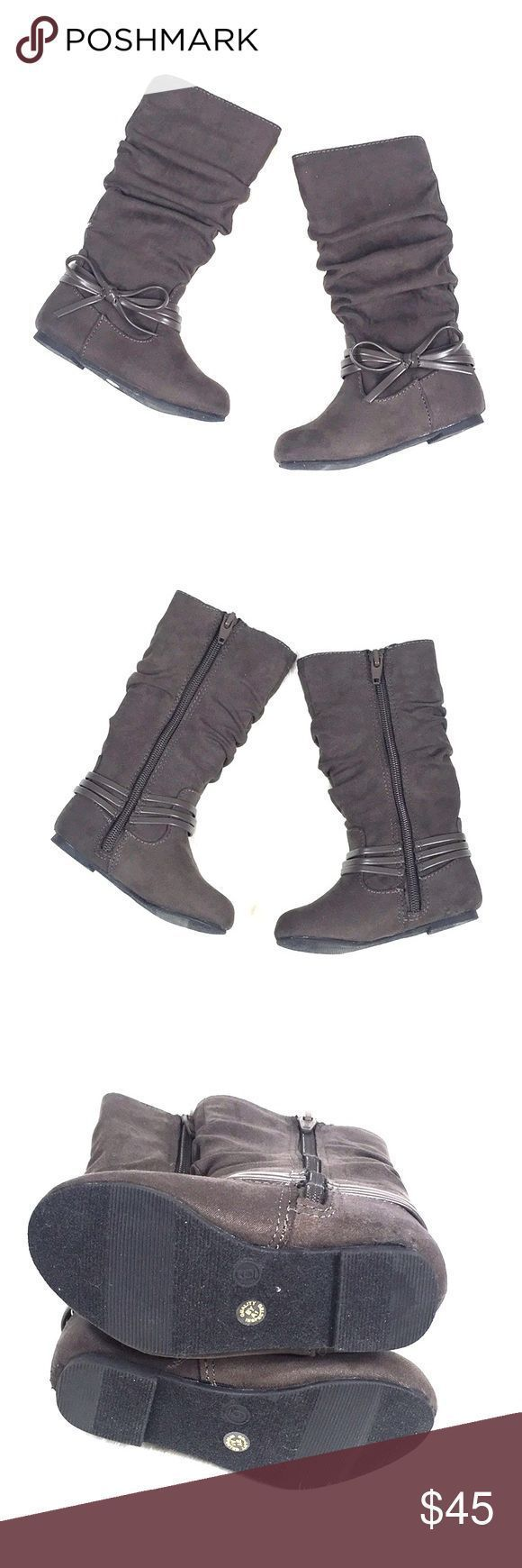#AestheticButtockSurgical-Gray Infant Size 6 Tall Zip Up Boots NEU Neu im Karton…