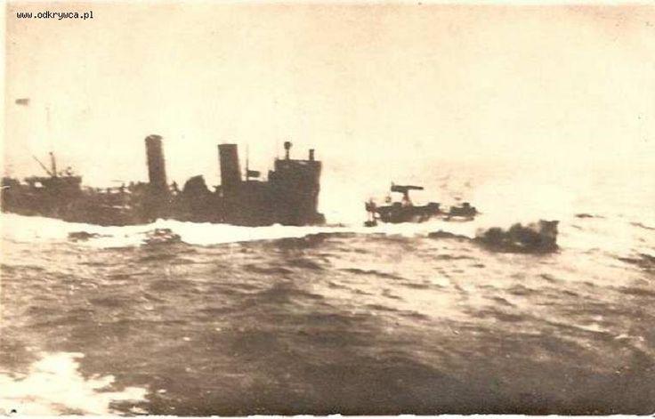 ORP Mazur or ORP Kaszub at sea.