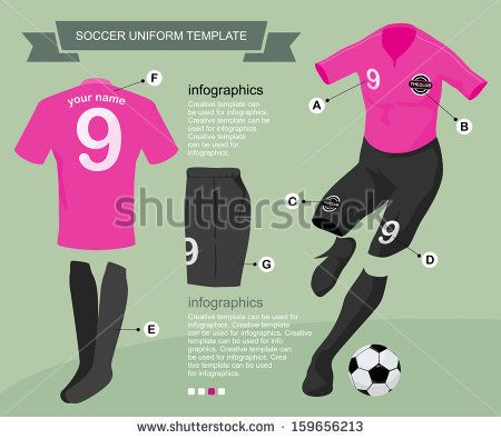 association football pitch | Soccer uniform template for your football club, illustration by vector ...