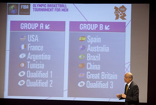 Road to London 2012 Olympics and Paralympics: Images of the week, May 01 2012 - Hoop dreams: the draw for the Olympic basketball tournament was made, with Team GB men avoiding the United States!  Picture: AP