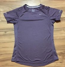Nike DRI FIT Womens TOP T Shirt Purple Mauve M | eBay