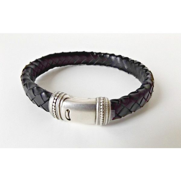 Mens leather bracelet, gift for him, boyfriend gift, mens leather... (€28) via Polyvore featuring men's fashion, men's jewelry, men's bracelets, mens leather cuff bracelets, mens leather bracelets, mens bracelets, mens watches jewelry y mens magnetic bracelets