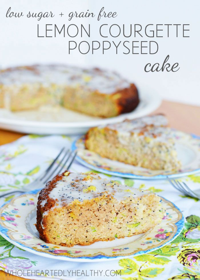good for sugar detox---low sugar grain free lemon courgette poppy seed cake
