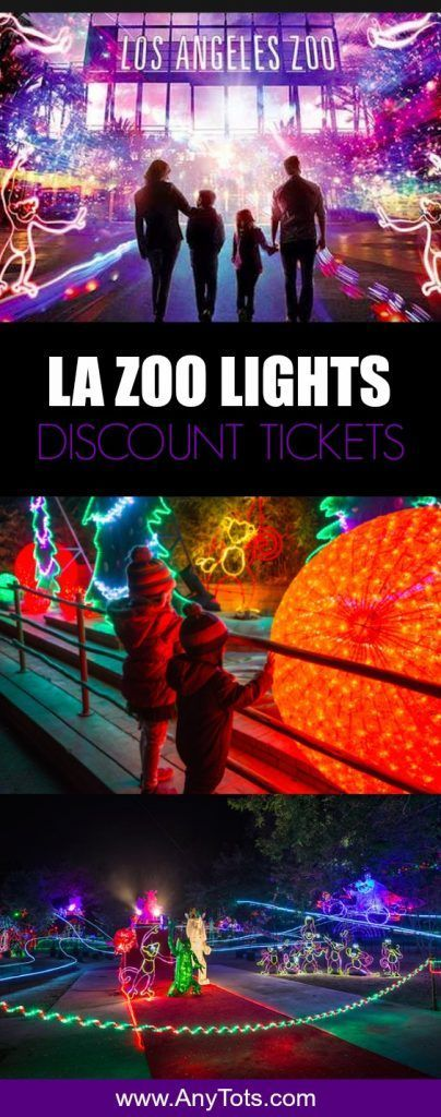 LA Zoo Lights Discount Tickets. Visiting Los Angeles this Holiday. Check out this Los Angeles Holiday event at LA Zoo. More info and discount via www.anytots.com #LosAngeles #holidays #lazoolights