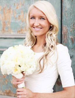 custom made half sleeve Organza bridal gown with Natural waist @Annie Compean Keller