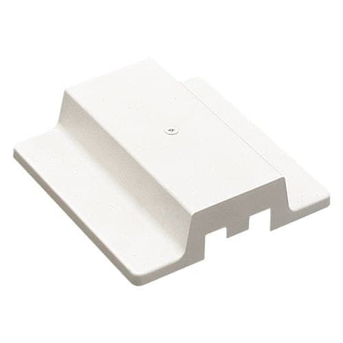 Elco EC809 Floating Canopy and Feed Point for 2 Circuit Track (White Finish)