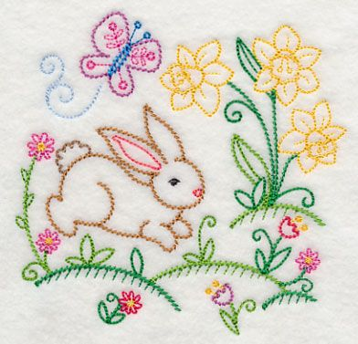 Machine Embroidery Designs at Embroidery Library! - Color Change - J6303Bunny