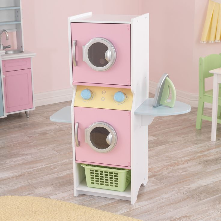 The Laundry Play Set lets young kids dry and clean their clothes just like mom and dad. With its entertaining design and interactive pieces, doing the laundry has never been this much fun.