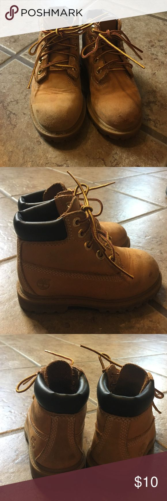 Toddler Timberland boots *price reflects condition. Boots used but still have a lot of life yo them. They are worn, and have scuffing on the toes. No holes. Boots are extremely durable and great quality. Timberland Shoes Boots