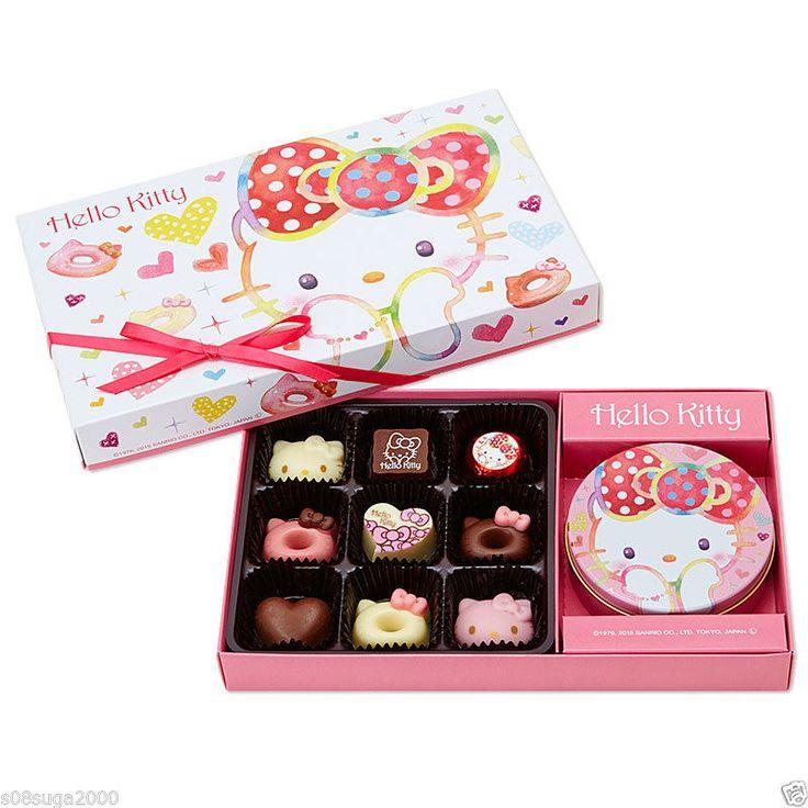 Hello Kitty Valentine 14 Chocolate Gift Box MADE IN JAPAN