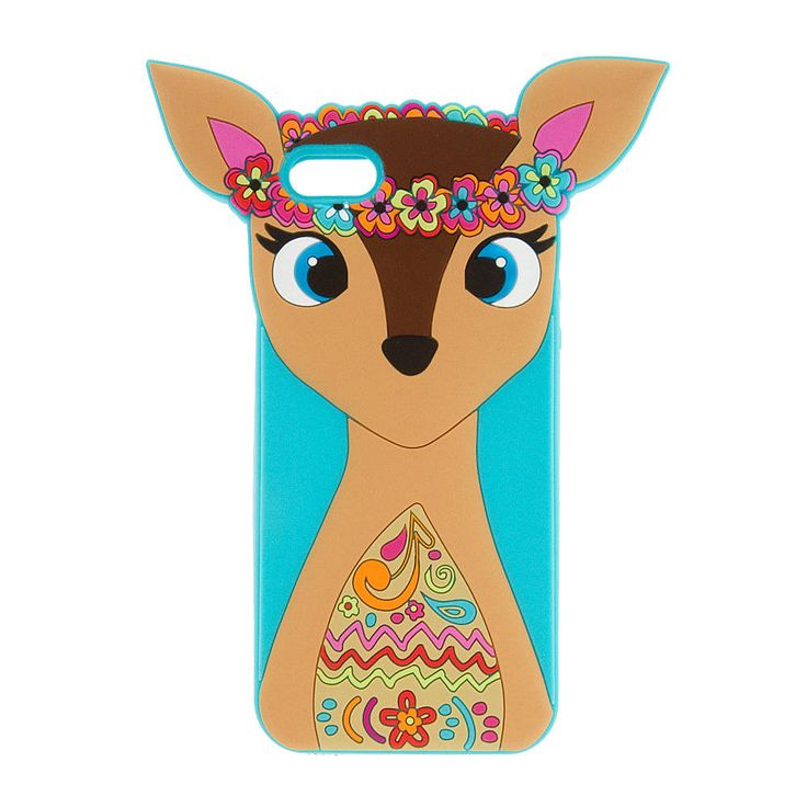 3D Silicone Festival Deer Cover for iPhone 5 and 5s | Claire's